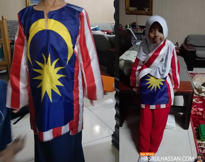 Baju Bendera Buatan Sendiri