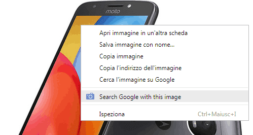 Search by Image (by Google) estensione Chrome