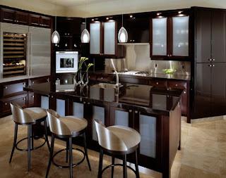 moderna cocina color marrón