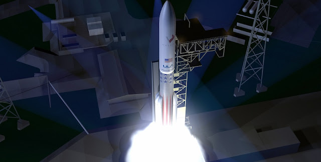 Artist's concept of the new Vulcan Centaur Rocket. Image: ULA