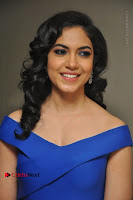 Actress Ritu Varma Pos in Blue Short Dress at Keshava Telugu Movie Audio Launch .COM 0032.jpg