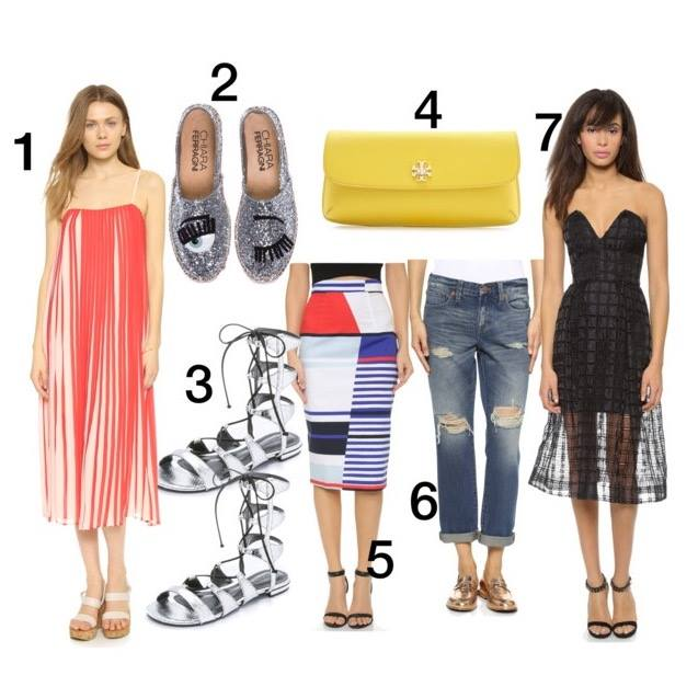 shopbop sale, summer sale, end of summer sale, Schutz Erlina Lace Up Sandals, Chiara Ferragni Glitter Eyes Espadrilles, Club Monaco Lisette Dress, Milly Marina Stripe Skirt, Nicholas Window Lace Bustier Dress, Madewell Destructed Boyfriend Jeans, Tory Burch Diana Clutch, fashion blog
