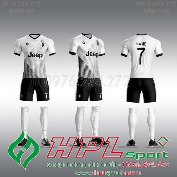 Mẫu áo câu lạc bộ tự thiết kế Juventus trắng