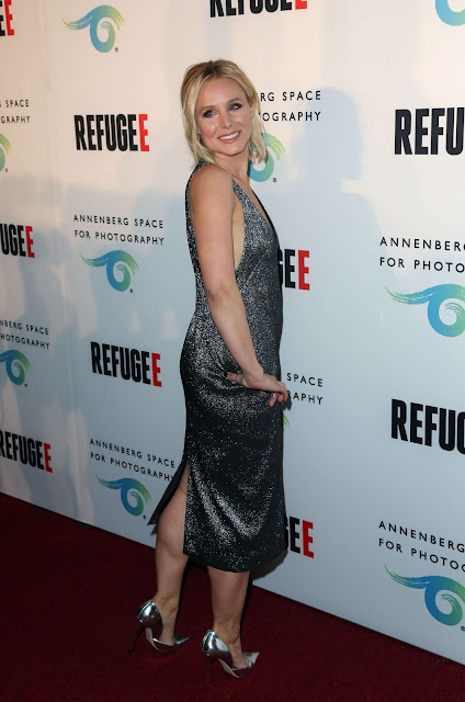Kristen Bell in Camilla & Marc at REFUGEE Exhibit in Century City, California