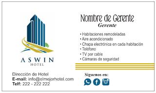 Tarjeta personal para hoteles