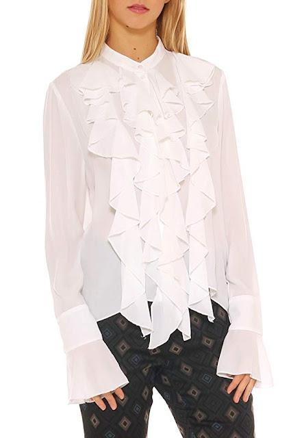 Camicia con rouches