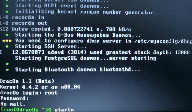 Booting Dracos
