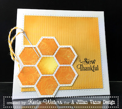 AJVD, Kecia Waters, quilting, hexagon
