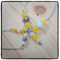 bijoux perles jaunes