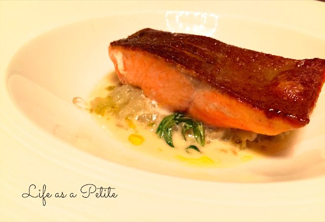Fillet of Sea Trout, etuvee of fennel with a veloute of tarragon