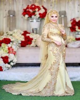 gaun pengantin muslimah couple