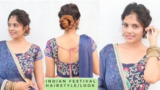 EASY Indian Festival/Wedding Hairstyle And Traditional Look/ Indian Party Heatless Hairstyles