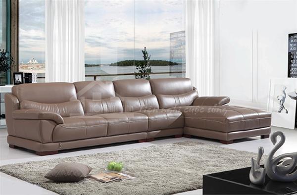 Ghế sofa da sang trọng cho phòng khách