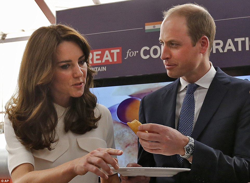 Prince William enjoys a dosa and meets young Indian Entrepreneurs
