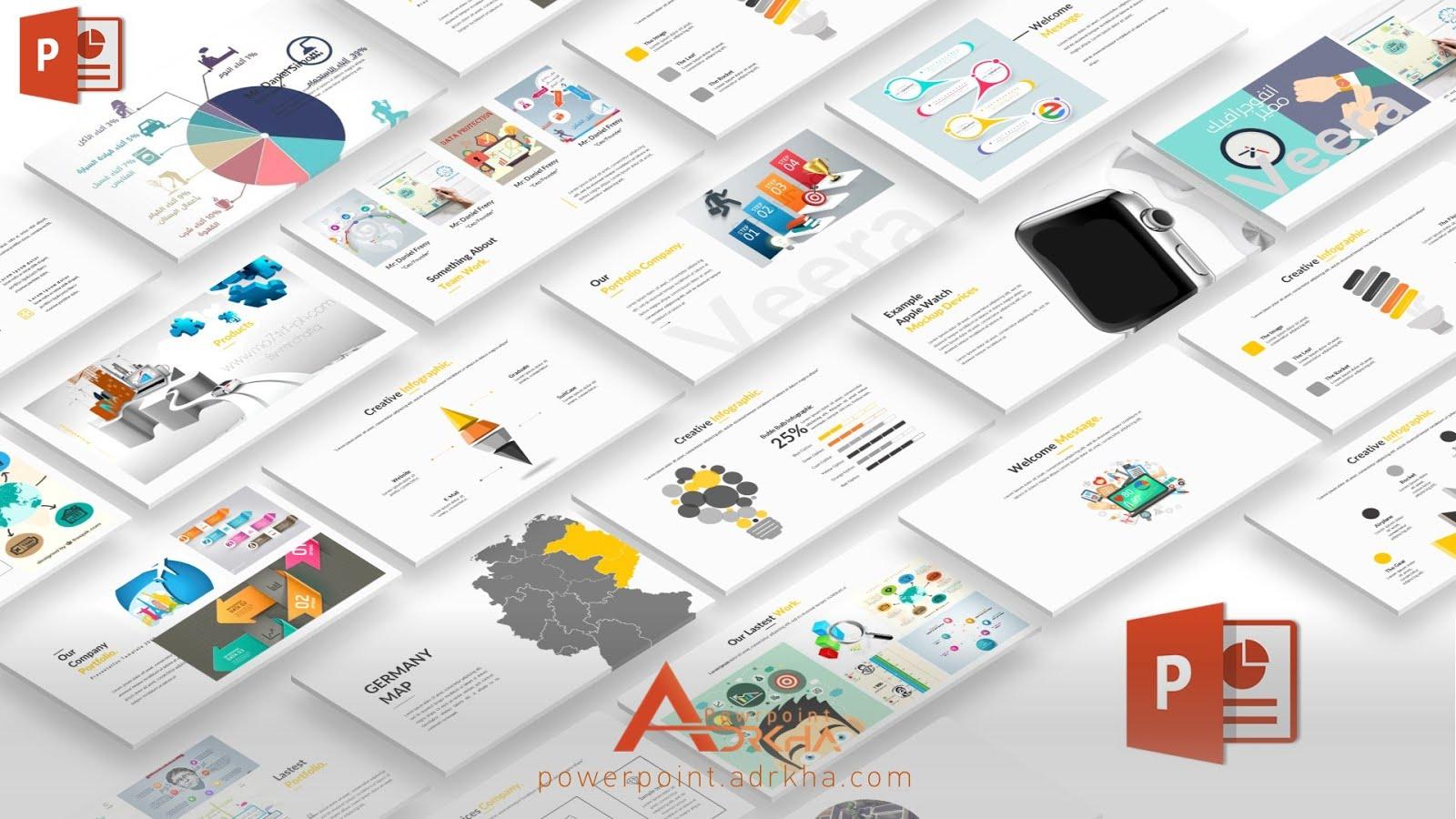 عرض تقديمى جديد لتصميم الانفوجرافيك 2018