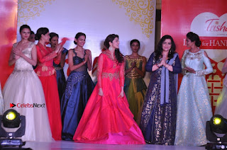 South Indian Celebrities Pos at Love For Handloom Collection Fashion Show  0159.jpg