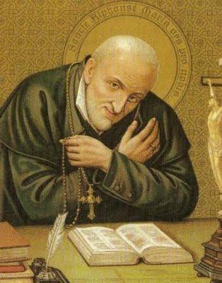 En la imagen San Alfonso Mª de Ligorio con un rosario en la mano.