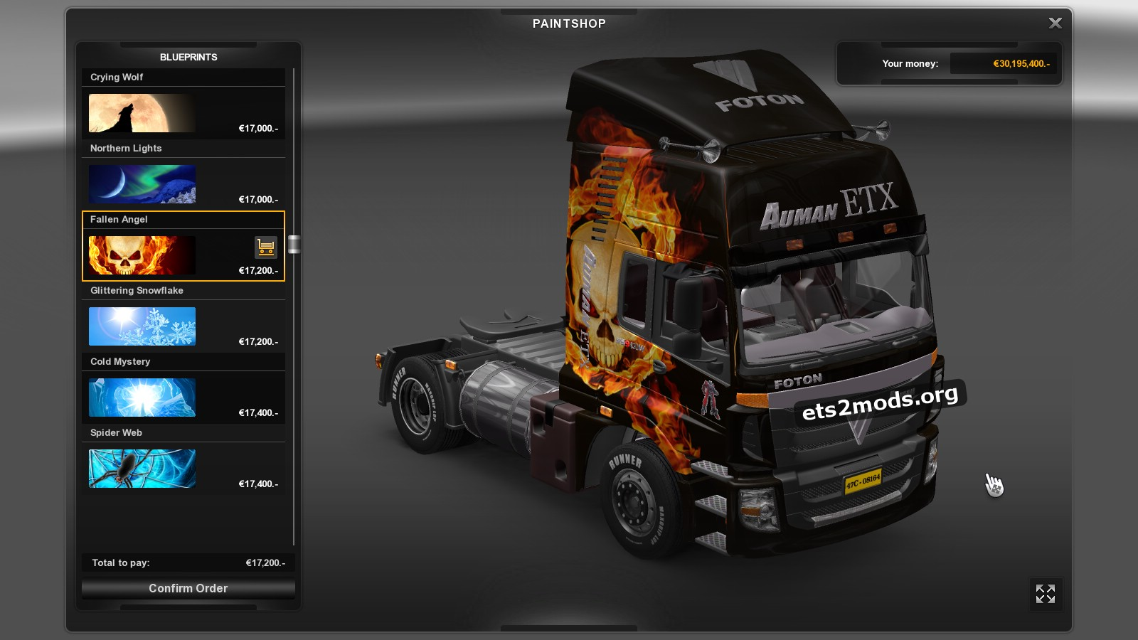 Foton Truck with skins
