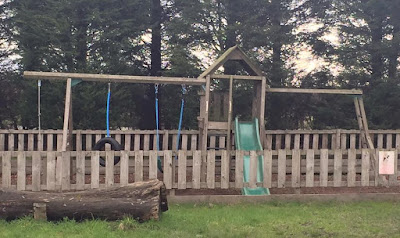 Kids play park at Moorhouse Farm Shop Stannington, near Morpeth, Northumberland