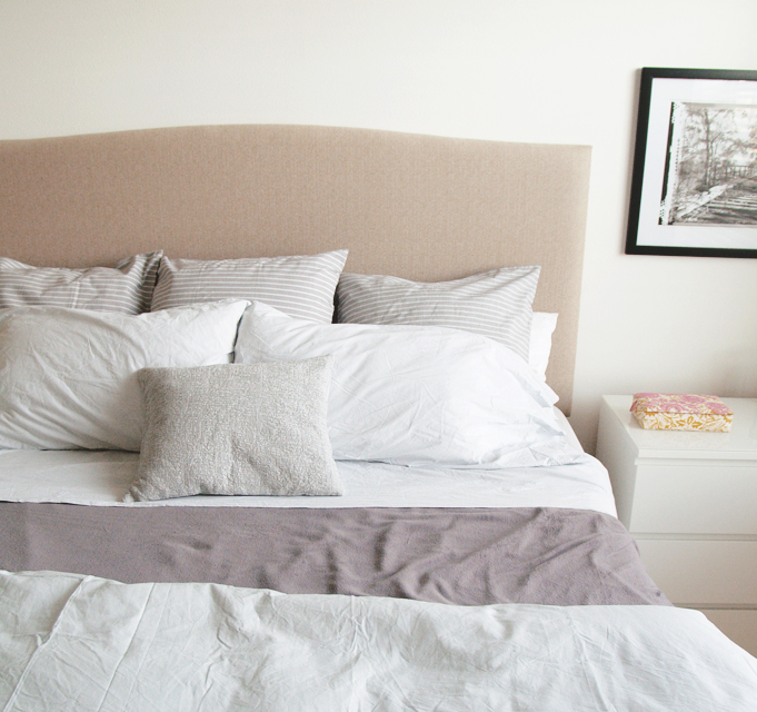Elegant DIY UPHOLSTERED HEADBOARD TUTORIAL U0026 REVEAL! 2:04 PM. I Have Been Lusting  Over The Colette Bed From Crate U0026 Barrel For Years Now. After A Few Feeble  ...
