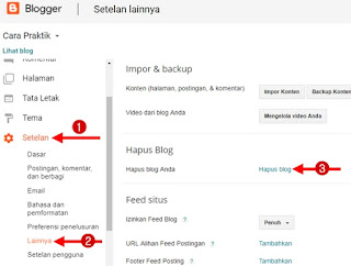 Cara Terbaru Menghapus Blog di Blogger Secara Permanen