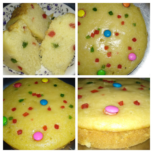 Egg less tutti frutti cake without oven ( Valentine Day Special)