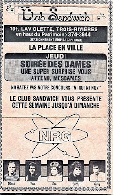 NRG played at this club in Canada... Club Sandwich for a 2 week stint