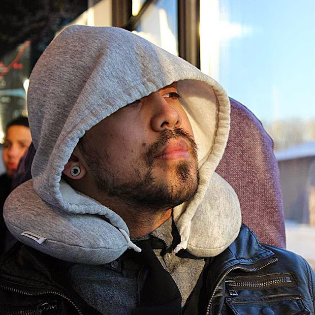 Travel Gadgets That Makes You Sleep Better - Travel Hoodie Pillow