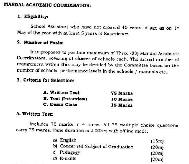 ap mandal co ordinator posts notification 2016