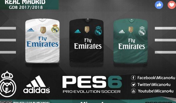 Real Madrid Full GDB Kits Season 17/18