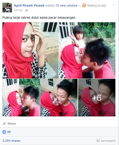 Pamer Foto Ciuman Di Facebook