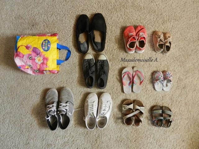 || Deux semaines de vacances, 2 adultes, 2 enfants, je mets quoi dans mes valises ? - Chaussures