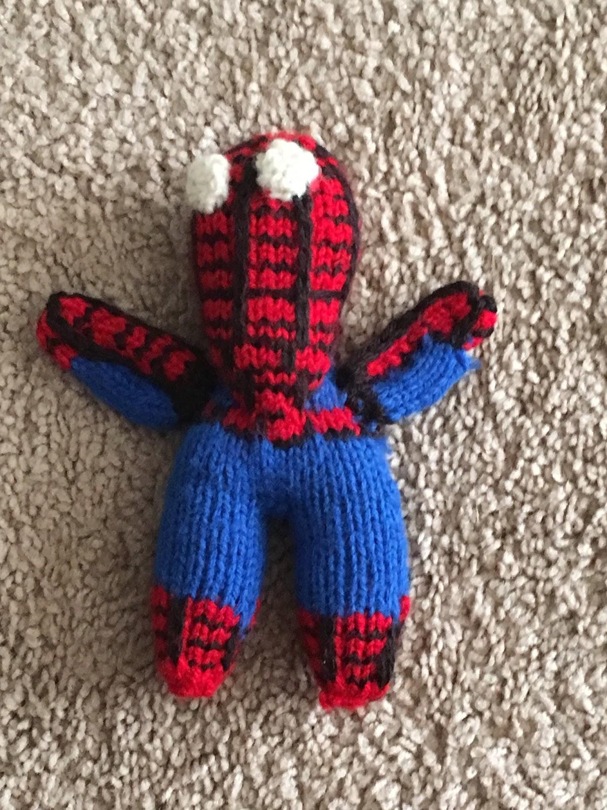 Knitting Pattern Spiderman Toy : Crazy Knitting Fool: FO: Birthday Spider-man