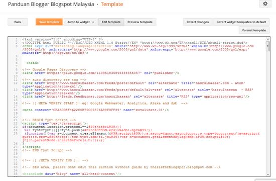 template for blogger html code - editor html template blogger dipertingkatkan