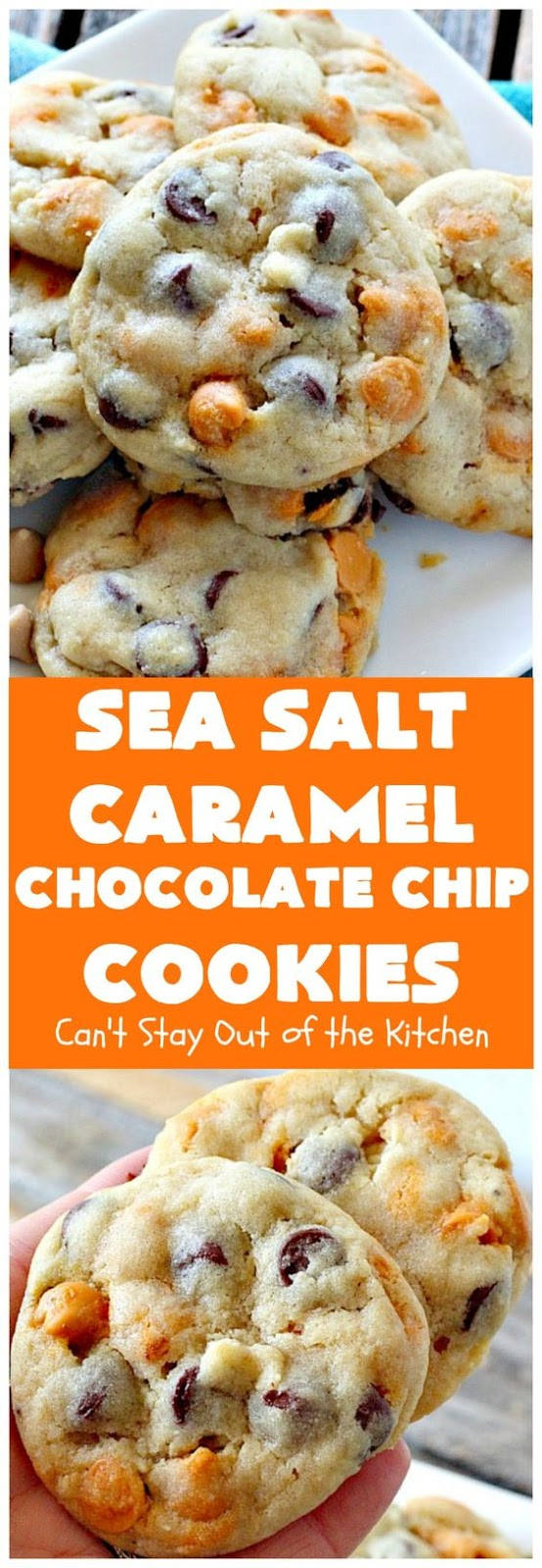 Sea Salt Caramel Chocolate Chip Cookies #seasalt #caramel #chocolate #chocolatechip #cookies #cookierecipes #easycookierecipes