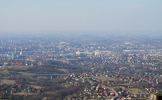 Widok na Bielsko-Biała.