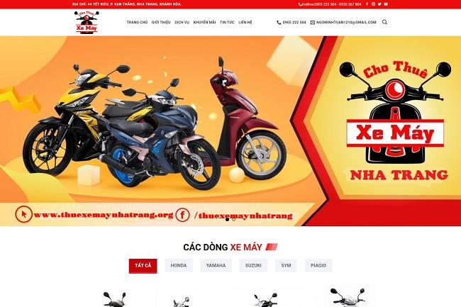 Motorbike Rental Responsive Blogger Template