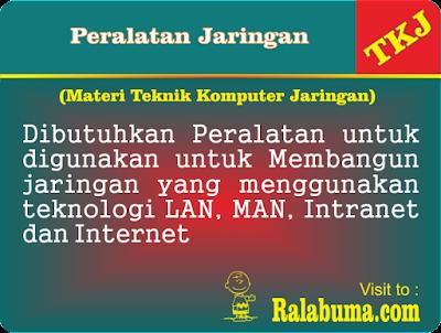 Peralatan Untuk Membangun Jaringan LAN, MAN, Intranet dan Internet
