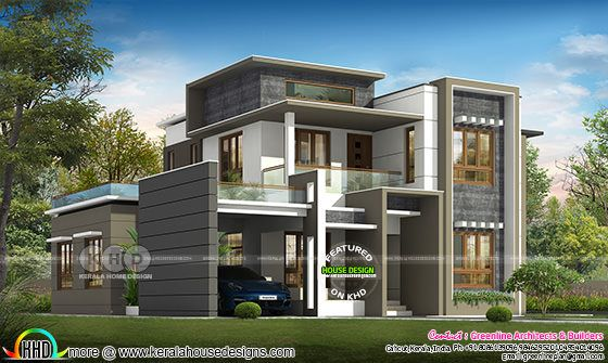 2746 square feet 4 BHK ultra modern house plan