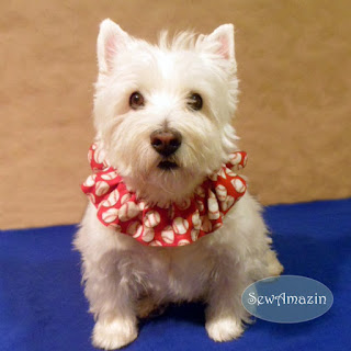 Patriotic Pup Scrunchie Neck Ruffle