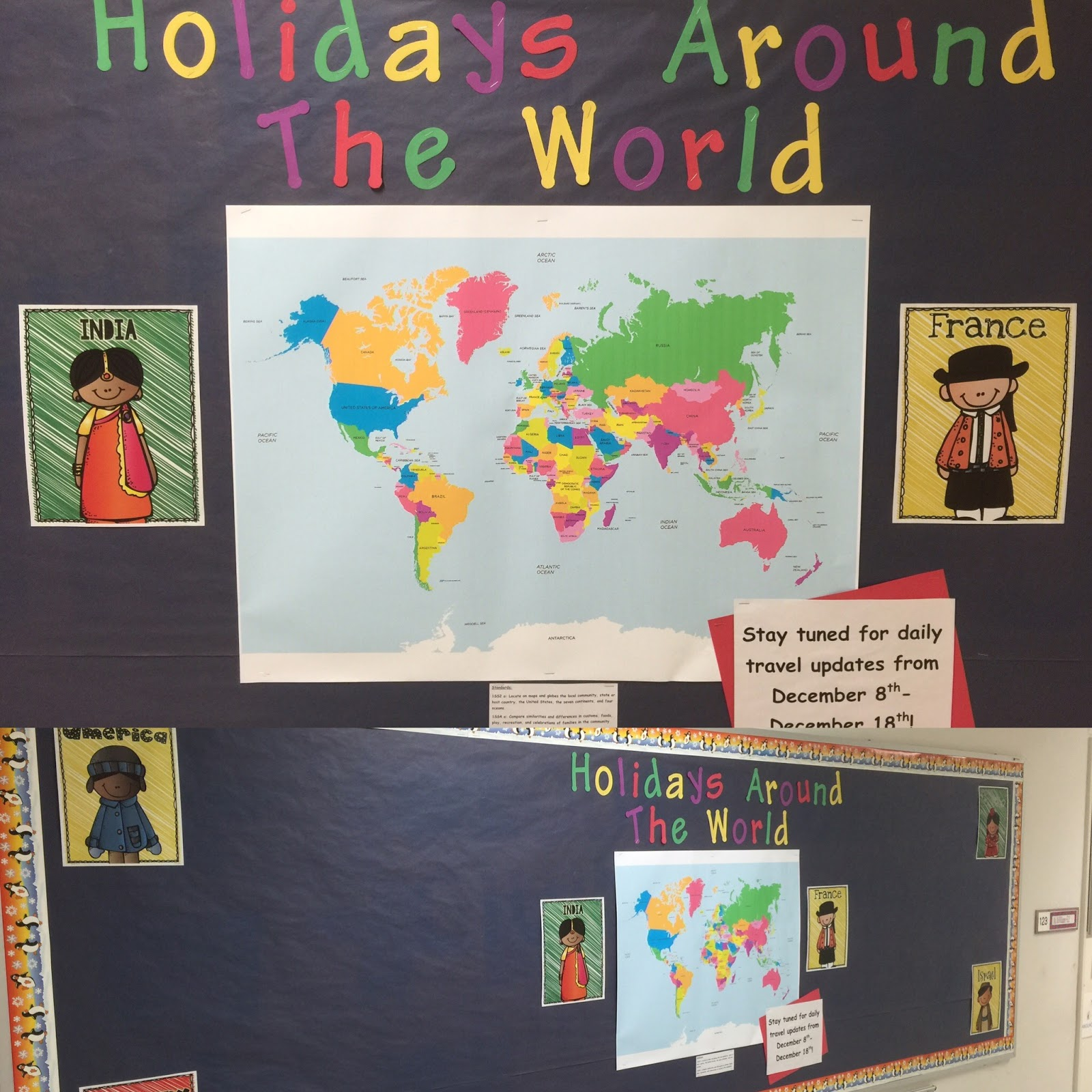 superior Christmas Around The World Bulletin Board Part - 7: However, for Christmas in America, I put my own little spin on things:  Mooseltoe by Margie Palatini! If youu0027ve never read this story, ...