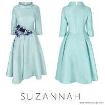 Sophie, Countess of Wessex Style SUZANNAH Dress and LAUNER Handbag and LK BENNETT Pumps