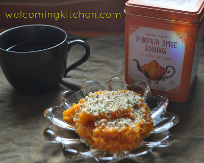 Sweet Potato with Chai Spice and Hemp Seeds