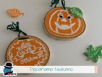 zucche personalizzate su rondelle in legno