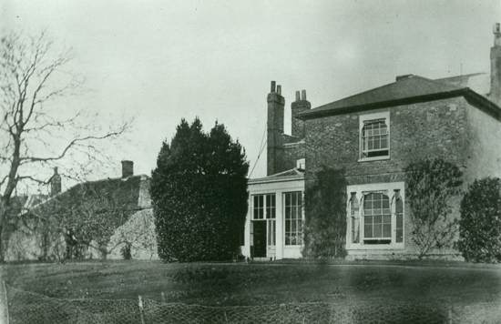 Photograph of the rear of Moffats House c1890