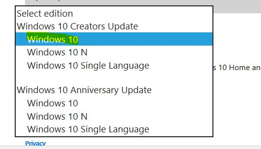 Update to Windows 10 creators update manually if you are unable to