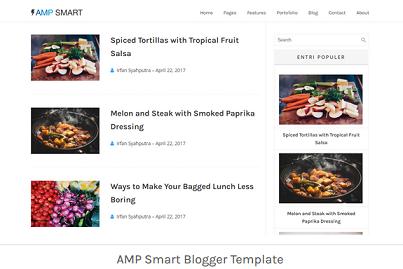AMP Smart Blogger Template Premium