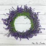 how to make a Fresh Lavender Wreath