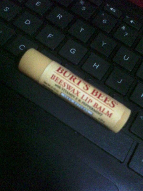 burt's bees peppermint lip balm