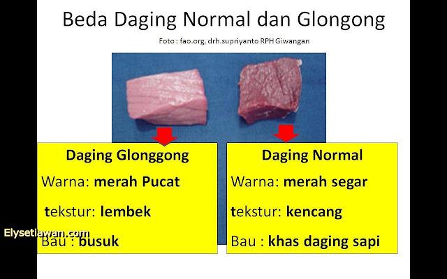 beda daging gelonggongan dan daging segar atau normal